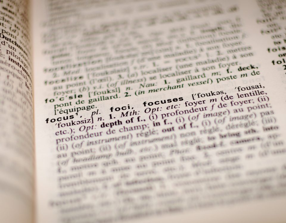 A dictionery with the word focus highlighted - a result of employee engagement